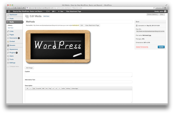 How to work with the media library in WordPress