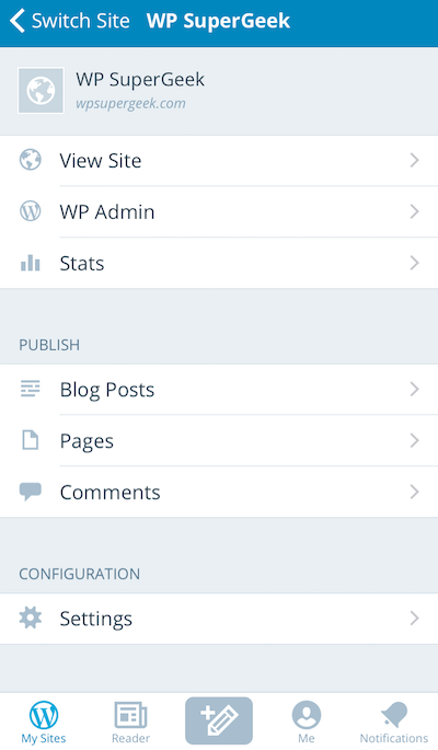 How to use the WordPress app to manage multiple websites