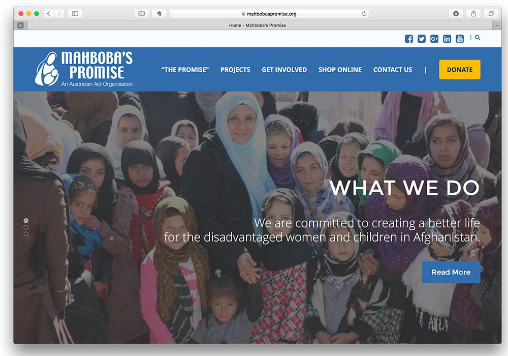 How to create a website for charity